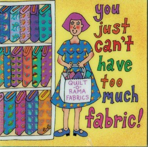 Too much fabric