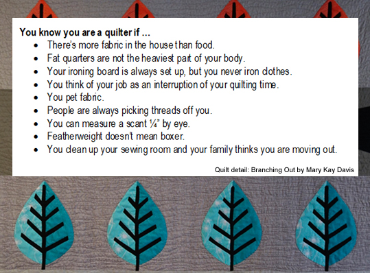 You Know You're a Quilter