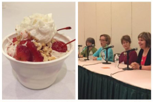 World Quilt Panel & Forum Ice Cream Social Pictured: A delicious sundae created by attendee & the instructor panelists for forum.